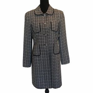 Conrad C vintage tweed button front over coat